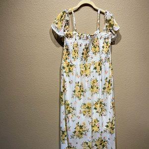 Disney princess women's maxi off shoulder dress